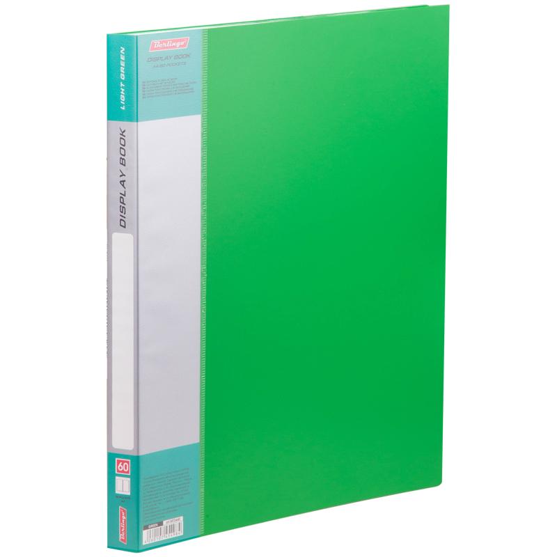 """Папка с 60 вкладышами Berlingo """"Standard"""", 21мм, 700мкм, зеленая"""